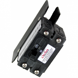 30 Amp 120/240 VAC double pole panel mount breaker for AC Coupling in the GSLC.