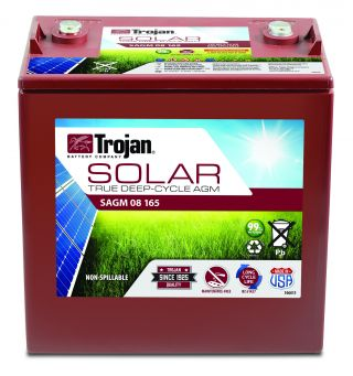 Solar Deep Cycle AGM Battery 8V 165Ah (C20)