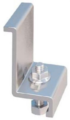 IronRidge End Clamp for 45mm panels (4pcs) Clear