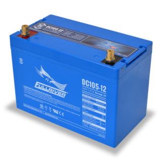 12V 105Ah (C20) Deep Cycle AGM Battery