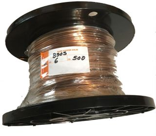 Solid 6AWG Bare Copper Wire - 500' Reel