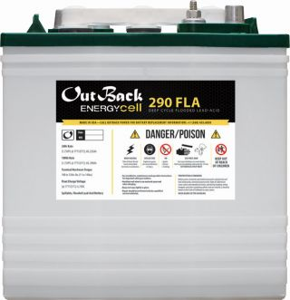 OutBack Power EnergyCell 6V 290Ah Group GC2 Deep-Cycle Flooded Battery