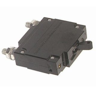 "50A 250VAC single pole panel mount breaker with 1/4"" stud terminals."