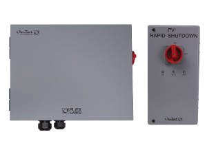 ICS Plus PV rapid shutdown package for SkyBox. Compatible with up to three strings of PV source circuits. Includes one FWPV3-FH600-S2D shutdown box, one RSI and one power supply.
