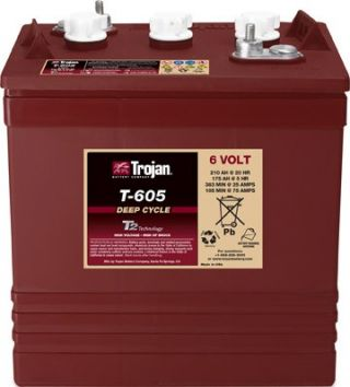 6V Flooded Lead-Acid Battery 210Ah/20hr