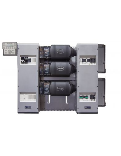 FLEXpower Three 10.8kW 48V Pre-wired VFXR Series System 120/208 with 300VDC 100A CC's