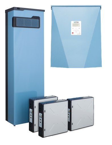 Pika System package consisting of: one (1) X7600 Series Pika Islanding Inverter, four (4) S2501 PV Links, one (1) HSBK Harbor Smart Battery Kit, three (3) DCB-105 Panasonc battery modules and one (1) CTK2-01 CT Kit.